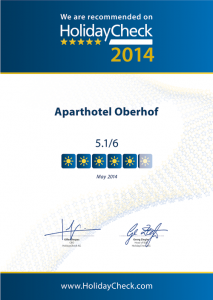Urkunde_Aparthotel-Oberhof